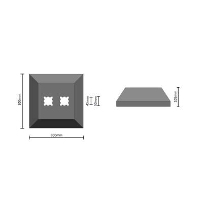 Protection d'angle 90° caoutchouc
